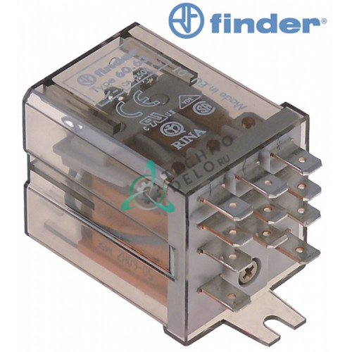 Реле FINDER 60.63 (230VAC / 10A / 3CO) для Simag, Zanussi, Bartscher, Brema, Eurowash и др.