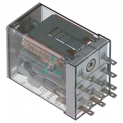 Реле Finder 55.33.8.230.0010 230VAC 10A 3CO F2 цоколь 94.73 универсальный для кухонного оборудования