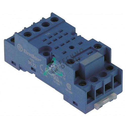 Цоколь реле Finder 94.72 2 полюса 70,5x30x27мм 250VAC 10A EN01700 для Bertos, Brema, Foinox, OEM и др.