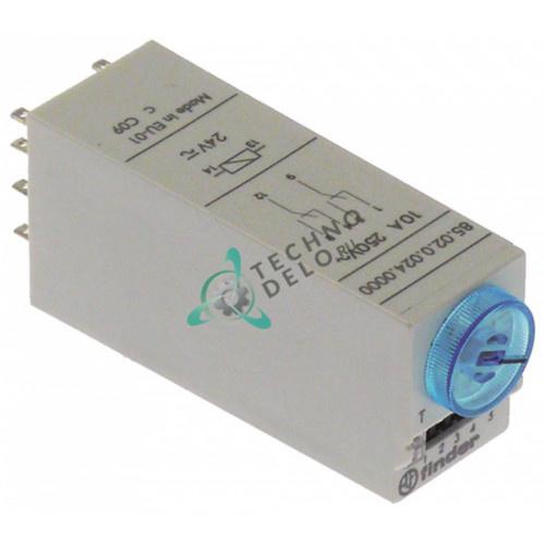Реле времени Finder 85.02.0.024.0000 0,05с-100ч 24VAC/VDC 10A 2CO 0C1240 для макароноварки Electrolux и др.