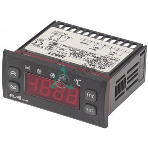 Контроллер Eliwell EWPC971 71x29мм 230VAC датчик PTC 1 реле 8A компрессора класс защиты IP65
