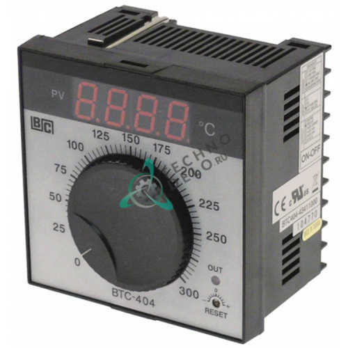 Контроллер Brainchild BTC404 43411000 ON-OFF 0 до +300°C 90-264VAC датчик Pt100 IP54