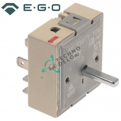 Энергорегулятор EGO 50.55071.100 230В 13А ось 6x4,6x22мм Y17604 для плиты GIGA C2V, C4V, C4VFCE, C4VFE и др.