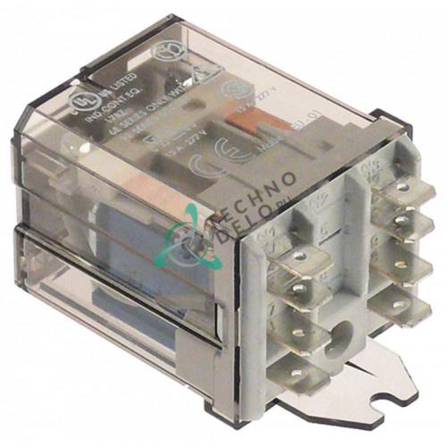 Реле Finder 62.82.9.024.0500 (24VDC 16A 2CO) подключение F6,3