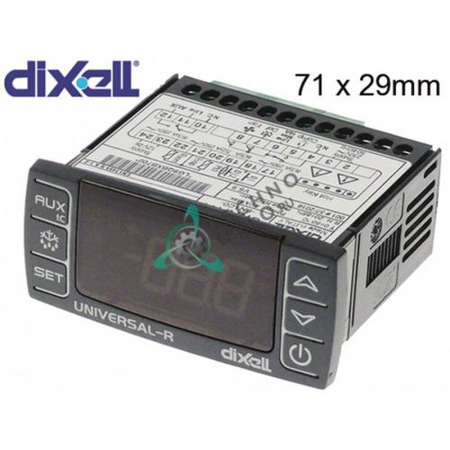 Контроллер Dixell UNIVERSAL-R4 71x29мм 230/12 VAC/VDC датчик NTC/PTC/DI 4 реле для холодильного оборудования