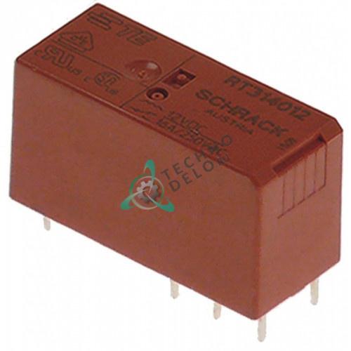 Реле SCHRACK RT314012 / 12VDC 250VAC 16А