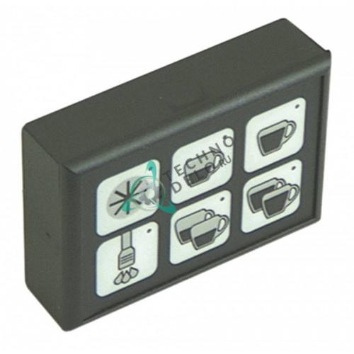Панель управления Gicar 9.9.09.28 88x60мм 6 кнопок для кофемашины Brasilia, ECM, Fiorenzato и др.