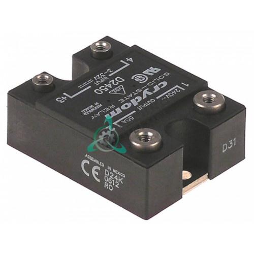 Реле полупроводниковое Crydom D2450 1 фаза 50A 24-280V 3-32VDC для профессионального теплового обрудования
