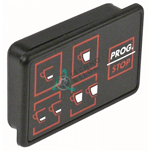 Панель управления Giemme 5 кнопок 66x43 мм WY18371027 для профессиональной кофемашины Astoria, Wega CMA