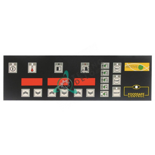 Стикер обозначения кнопок панели управления 006608 фритюрницы Electrolux HFH/G435, KFH/E1, KFH/E1EH и др.