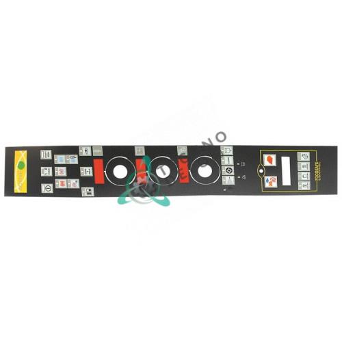Стикер 006529 обозначения кнопок панели управления пароконвектомата Electrolux FCV/G101/1, FCV/G102/1 и др.