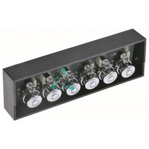 Панель управления Gicar 9.9.08.49G 6 кнопок 135x44мм 5031305 для профессиональной кофемашины BFC CLASSICA и др.