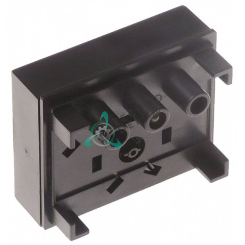 Панель управления горячей воды 1 кнопка желтая подсветка 51x61мм 411001 для профессиональной кофемашины Conti и др.