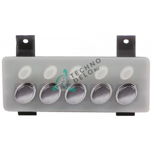 Панель управления 5 овальных кнопок WGA8003007000 10061986 для профессиональной кофемашины Gaggia, Lavazza, Saeco