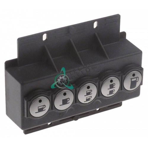 Панель управления 125x50мм 5 кнопок 08378400 кофемашины Quality Espresso Futurmat