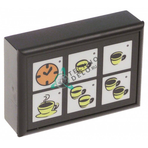 Панель управления 88x60мм 6 кнопок A1500091 кофемашины Fiorenzato C.S., Grimac