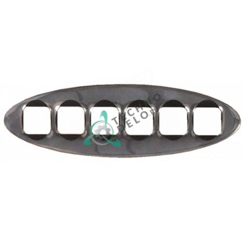 Рамка облицовочная хромированная 132x42мм A2400055 кнопочной группы кофемашины Fiorenzato-C.S, Grimac