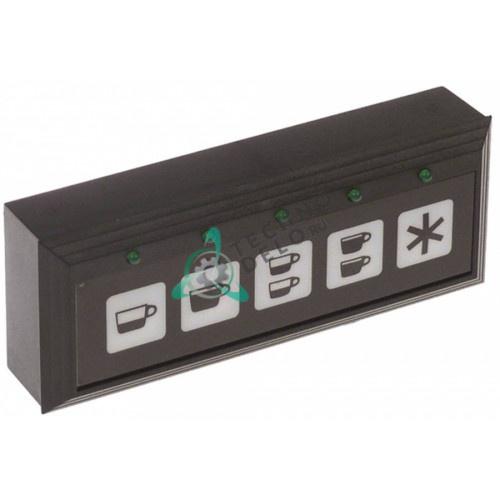 Панель управления 115x45мм 5 кнопок GRC104 кофемашины Grimac, Ricambi Gardosi