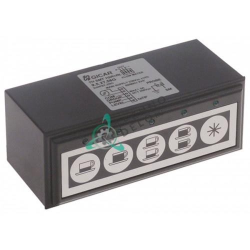 Панель управления Gicar TH SMT 1GR+RL 9.5.27.56 117x45мм 5 кнопок кофемашины