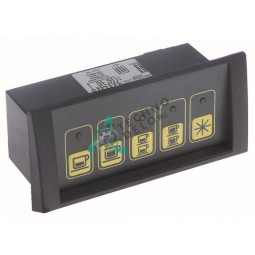 Панель управления Gicar 9.5.28.54G00 1d5e GRCZ NKP S10 no c/m 5 кнопок 230В 132x64мм для IBERITAL EXPRESSION