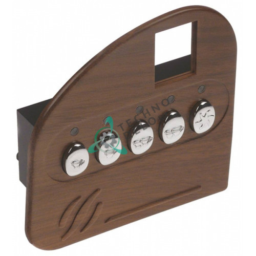 Панель управления Gicar 9.9.07.29G 124x126мм 5 кнопок 60102009 60102009NO для кофемашины Expobar MARKUS и др.