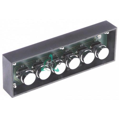 Панель управления ELETPUL6T1LTD 6 кнопок для кофемашины Vibiemme Replica 2GR и др.