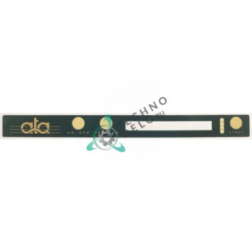 Стикер с обозначениями элементов управления 450x40мм посудомоечной машины ATA AL40/41/45 и др.
