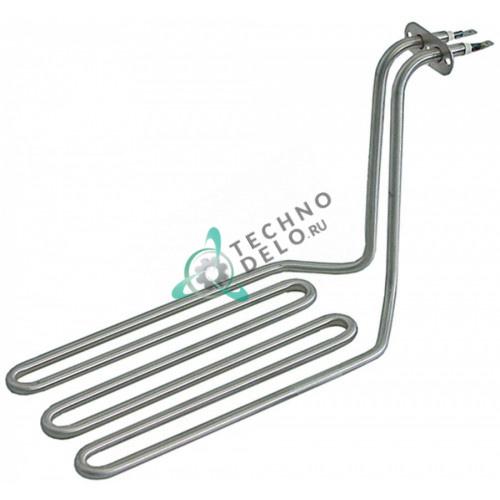 Тэн 2500Вт 230В 285x125x177мм трубка d-8мм погружной нагревательный элемент 02069 для Roller Grill RF 5DSP/RF 5SP и др.