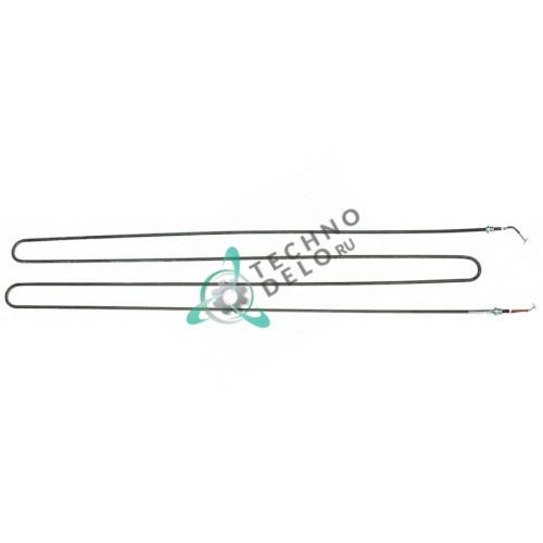 Тэн (1300Вт 220В) 1220x250мм резьба M14x1,5 трубка d-8,5мм провод L-1550мм RESI0052 для печи подовой Zanolli