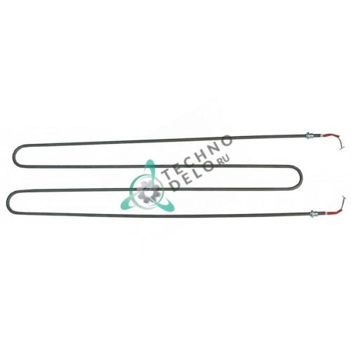 Тэн 1000Вт 220В 810x214мм трубка 8,6мм резьба M14x1,5 сухой нагревательный элемент RESI0051 для печи Zanolli 2 MC18 и др.
