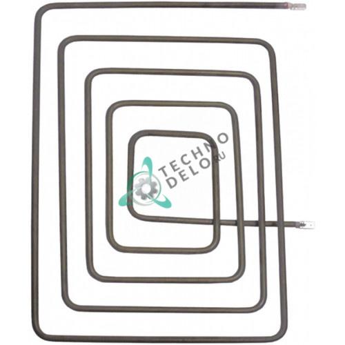 Тэн (1050Вт 230В) 235x330мм диаметр трубки d-6,5мм для профессионального контактного гриля VEMA