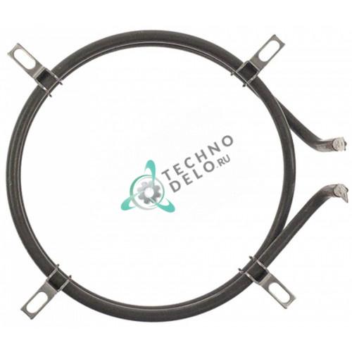 Тэн (1500Вт 110В) 160x140x45мм контакт F6,3 трубка d-6,5мм D02035 для Roller Grill