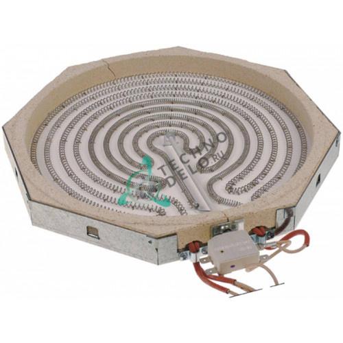 Конфорка нагреватель AD 100.381 3400Вт 230В 300x300x30мм для плиты Mareno, Olis и др.
