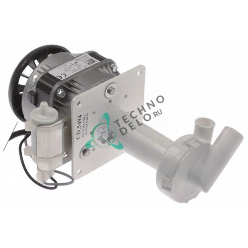 Насос помпа 52Вт 230В ø20/ø17мм L124мм 505494 CD.5494 для льдогенератора ITV, Fagor и др.