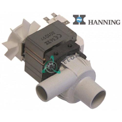 Насос сливной Hanning BE28B4-017, 3002.1000P парогенератора печи Rational Classic/C/CPC (с 10/89 до 01/99г.)