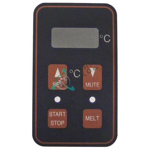 Стикер обозначения кнопок 92x54мм панели управления CR0588380 для фритюрницы Mareno NF94E222K, Silko EFE92122K и др.