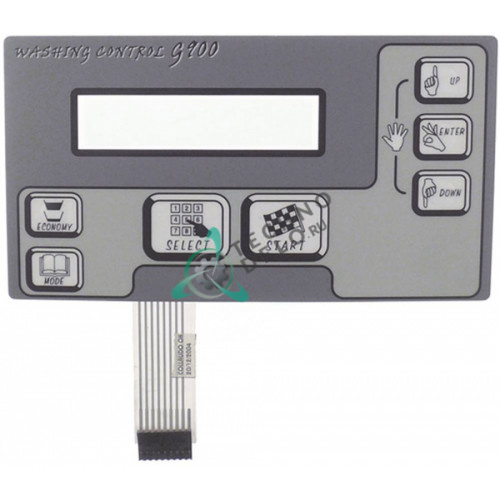 Клавиатура панель с 7 кнопками L-200 мм / H-110 мм для стиральной машины Grandimpianti