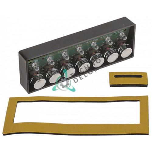 Панель управления Gicar 7 кнопок 136x45мм D83180011R для профессиональной кофемашины Astoria Cma, Wega CMA