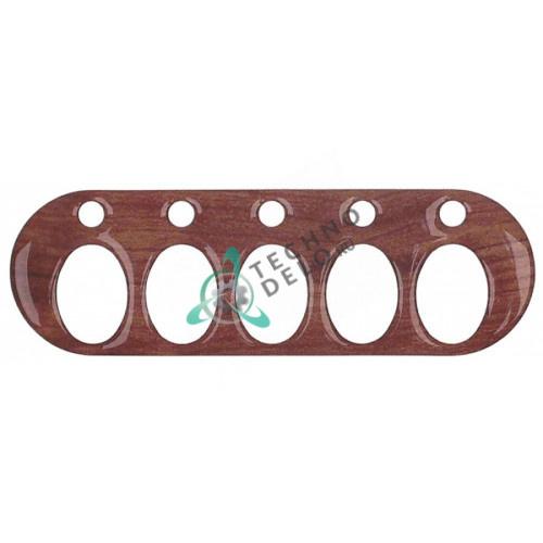 Рамка облицовочная под дерево 110x35мм 70000186 для кнопок кофемашины Expobar MARKUS