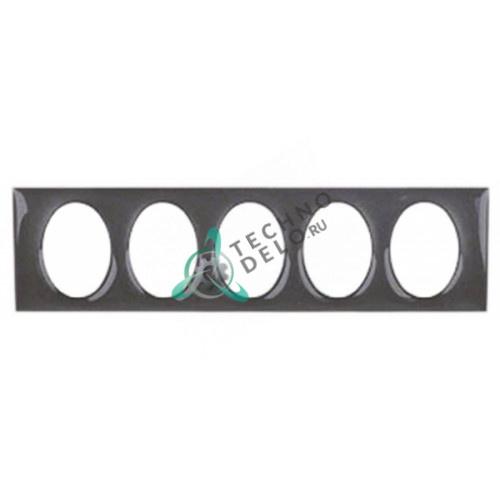 Рамка облицовочная черная 102x27мм панели управления кофемашины Expobar Markus, Office-Control