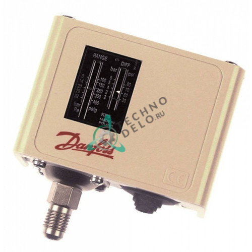 Прессостат Danfoss KP5 601171 HD 1,8-6 бар 8-32бар 7/16 UNF 19550371 для льдогенератора Icematic F80C/N140/N20L и др.