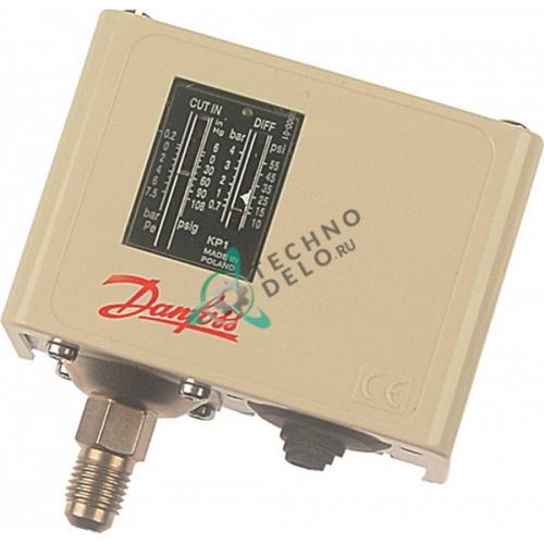 Прессостат Danfoss KP1 60-1101 ND 0,7-4бар -0,2 до +7,5 бар 7/16 UNF 41301001 холодильного оборудования Mercatus