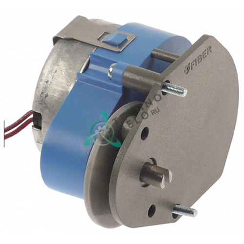 Мотор-редуктор Fiber P245J01C128 230VAC вал ø6,3мм печи Retigo B1011b, B1011i, B1221b, B1221i и др.