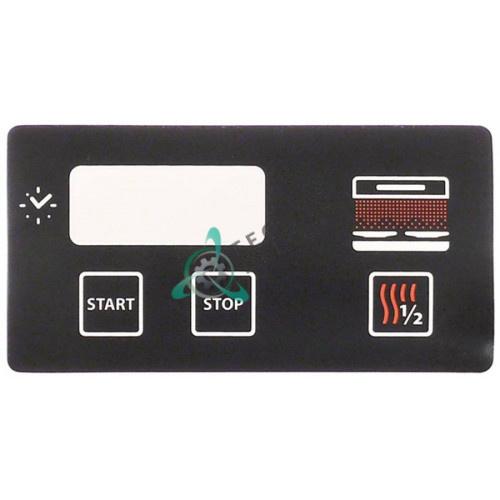 Стикер 01017 RC01017000 с обозначениями элементов управления гриль-саламандера Tecnoinox QSE60