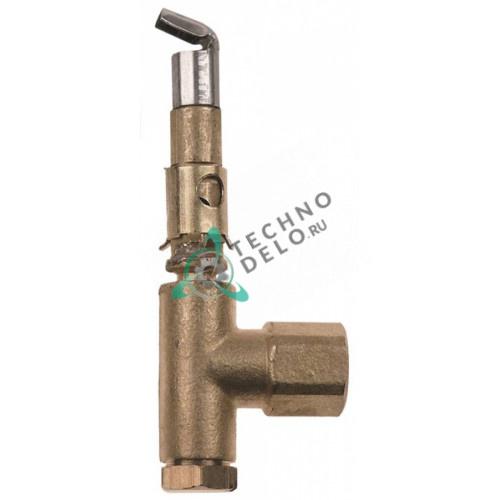 Горелка под конфорку PRO-GAS 100047 серия 100 1 пламенная диаметр дюзы 0,2 мм для теплового кухонного оборудования