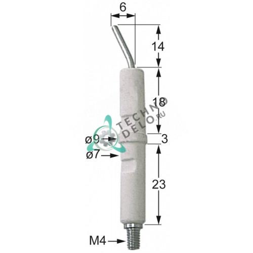 Зажигательный электрод M4 EMSITCA0 Coven, Whirlpool, Zanussi, Giorik, Icos и др.