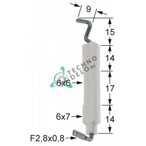 Электрод зажигания для газ плиты Angelo Po, Imegas, Sagi и др. (арт. 32T0141 / 32T0142)