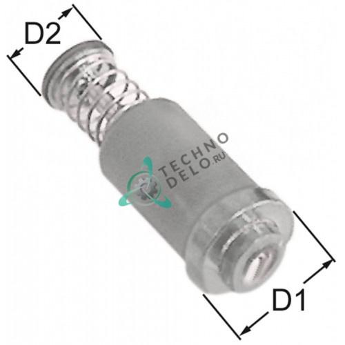 Клапан электромагнитный газового крана PEL/Junkers/EGA ø15.4/ø11мм L-39мм 5029703203 для Ambach, Angelo Po, Silko и др.