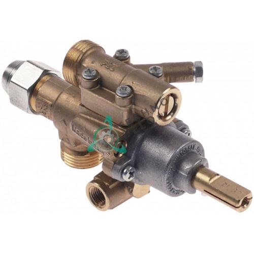 Кран газовый PEL 22S/O (M20x1.5 ø0.35мм ось 10x8мм) 435221 для плиты Gico, Mareno и др.