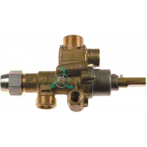 Кран газовый PEL 22S/V (M20x1.5 ø0.35мм ось 10x8мм) RC00126000 для Giga, Tecnoinox, Zanussi и др.